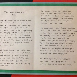 Year 5 Creative writing using the children's classic, Alice in Wonderland as a stimulus.